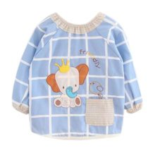 Lovely Baby Bibs Feeding Bib Kid's Apron Overclothes Waterproof Long Sleeves Art Smock NO.17