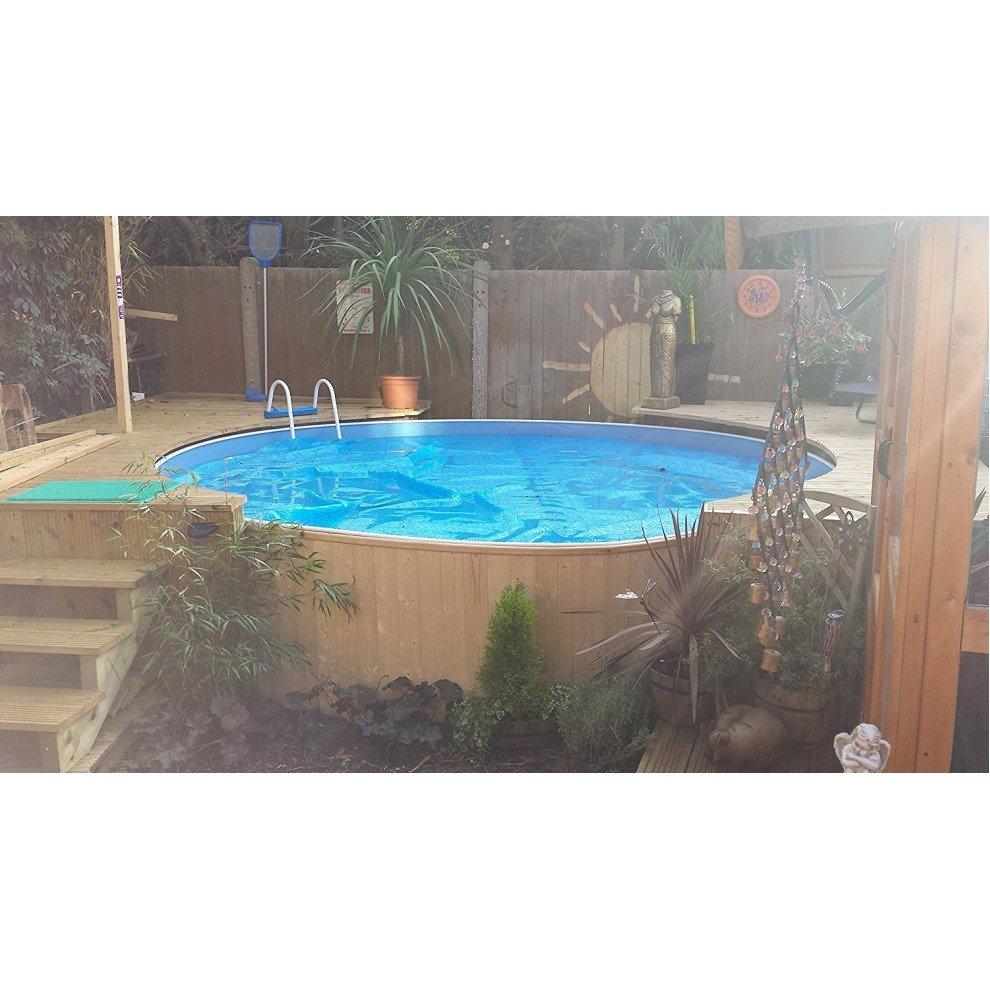 aqua world lagoon pool 12 x 3ft steel free standing pool on onbuy. Black Bedroom Furniture Sets. Home Design Ideas