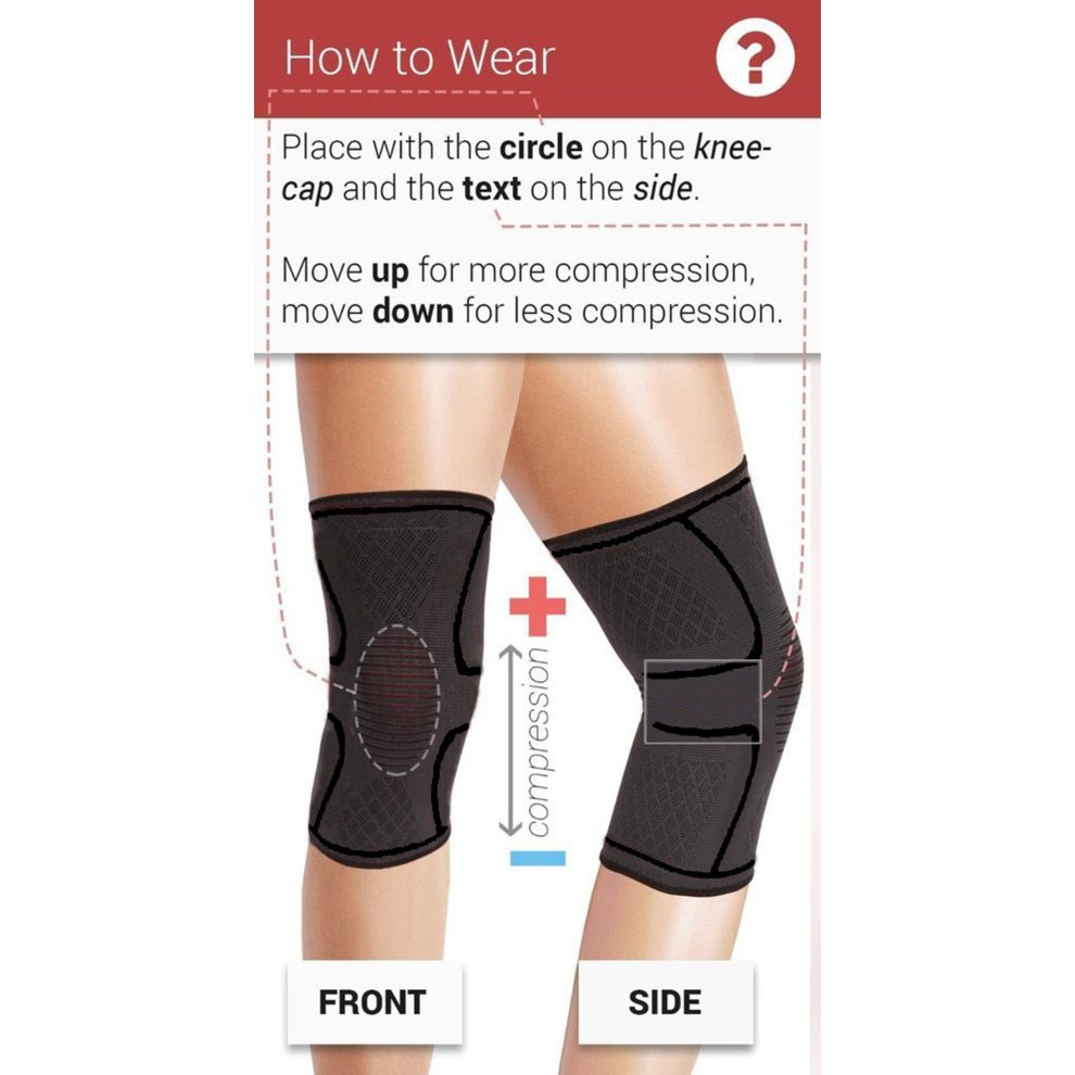 70ba168692 ... Beskey Knee Support (Pair) Anti Slip Knee Brace Super Elastic  Breathable Knee Compression Sleeve ...