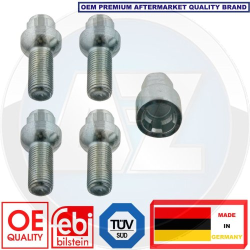 for AUDI SEAT SKODA MERCEDES LOCKING SECURITY WHEEL BOLTS NUTS SET FEBI BILSTEIN