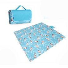 Extra Large Picnic Blanket Waterproof Travel Blanket  Blue 79*79 inch
