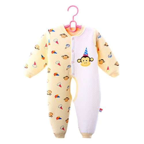 Baby Suit Clothing Long-Sleeved Cotton Baby Crawl Sports Open Fork Cotton A