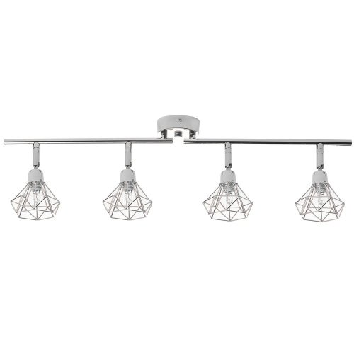 Ceiling Lamp Metal Silver ERMA