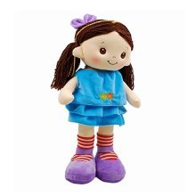 """Linzy Hanna Rag Doll and Dress, with Spanish Music, Turquoise 16"""""""