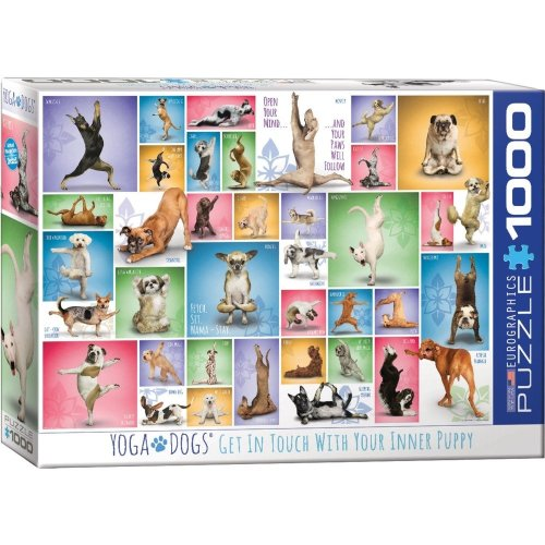 Eg60000954 - Eurographics Puzzle 1000 Pc - Yoga Dogs