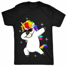 8TN Dabbing Unicorn Cool Sun glasses Dab Womens T Shirt