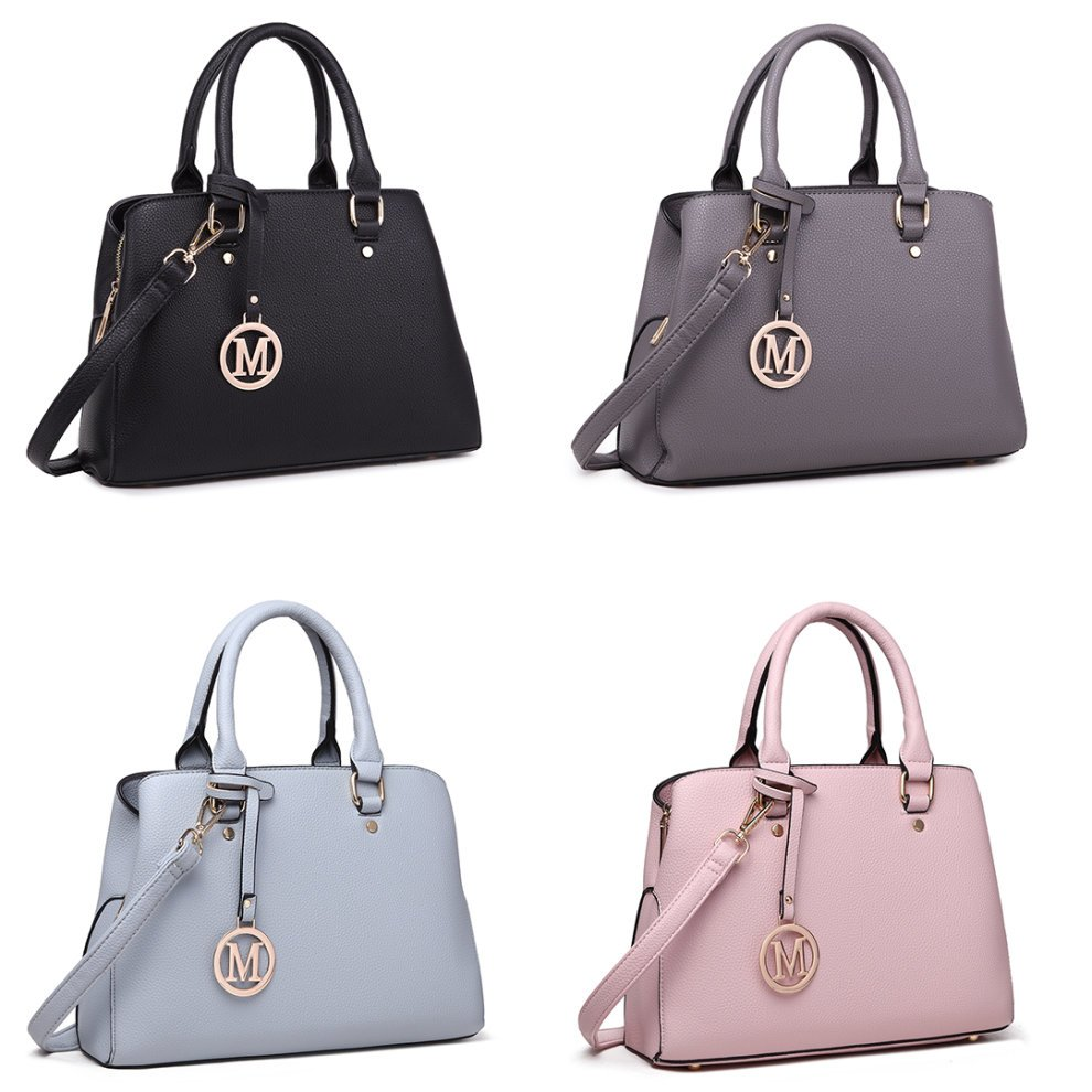 ef2ee08b59c Miss Lulu Women Leather Handbag Shoulder Bag Tote with Multi Compartments