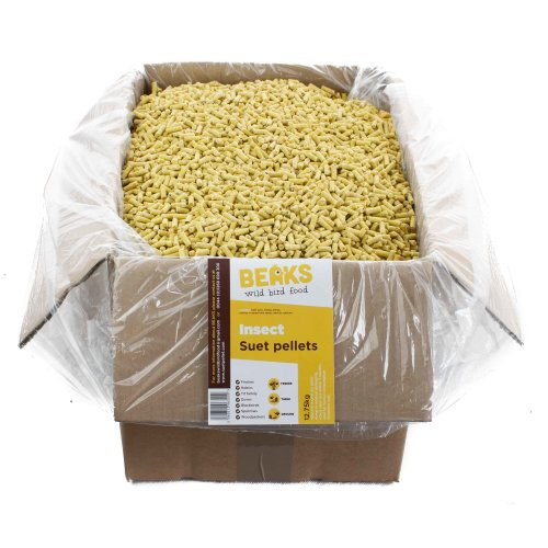 BEAKS Insect suet feed pellets for wild birds 12.75kg box with free pp