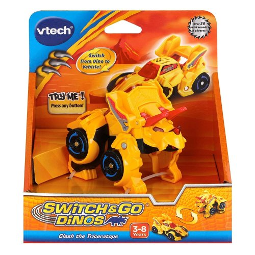 Vtech Switch & Go Dinos Clash the Triceratops Yellow