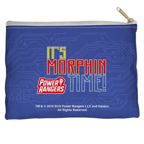 Trevco Sportswear PWR2416-PCH1-8.5x6 Power Rangers & Its Morphin Time Accessory Pouch, White - 8.5 x 6 in.