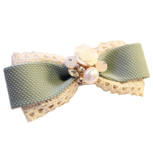 Green Elegant Rose Lovely Hair Claw Fashion Hair Clip Creative Claw/Hairpin