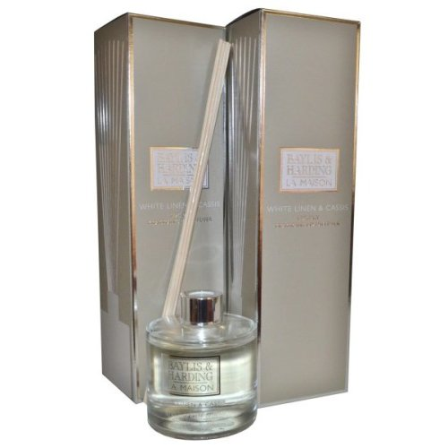 La Maison by Baylis and Harding Luxury Fragranced Diffuser Duo Offer - White Linen & Cassi