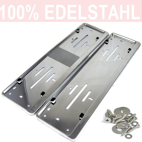 2 Pcs. License Plate Holders Stainless Steel