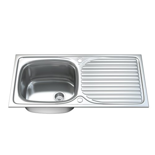 Dihl 1003 1.0 Single Bowl Stainless Steel Kitchen Sink, Drainer & Waste