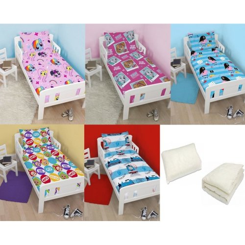 KIDS JUNIOR/TODDLER BED SET 4 PIECE DUVET & DUVET COVER PILLOW & PILLOW CASE