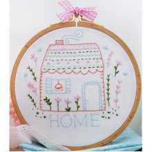 "Charles Craft/Tamar Embroidery Kit 8""X8""-Home Sweet Home"