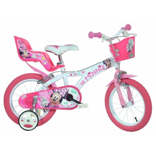 Dino Minnie Mouse Kids Bike with Stabilisers