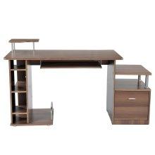 Homcom PC Workstation with Drawer Shelves Storage Office Furniture