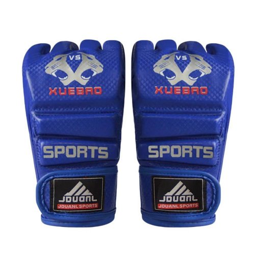 Adult Fighting Half-finger Gloves -UFC Boxing Gloves - Gloves MMA--Blue