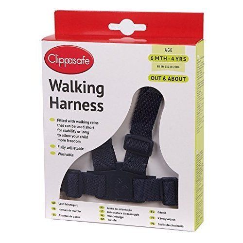 Clippasafe Walking Harness With Reins - Navy 6mths To 4yrs
