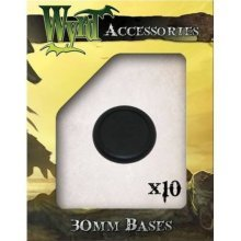 Wyrd Miniatures 30mm Round Lipped Bases, Black (Pack of 10)