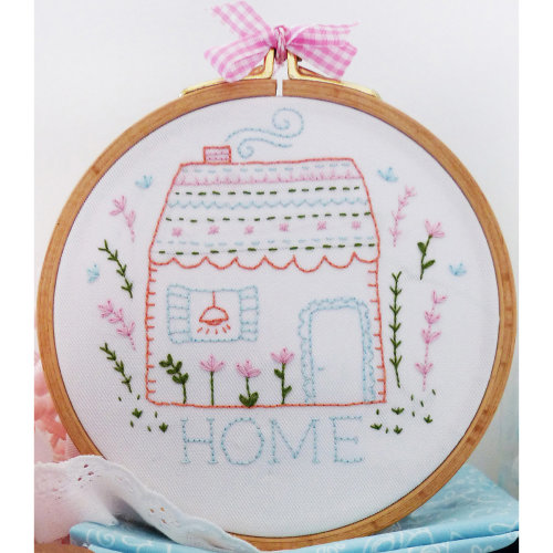 """Charles Craft/Tamar Embroidery Kit 8""""X8""""-Home Sweet Home"""
