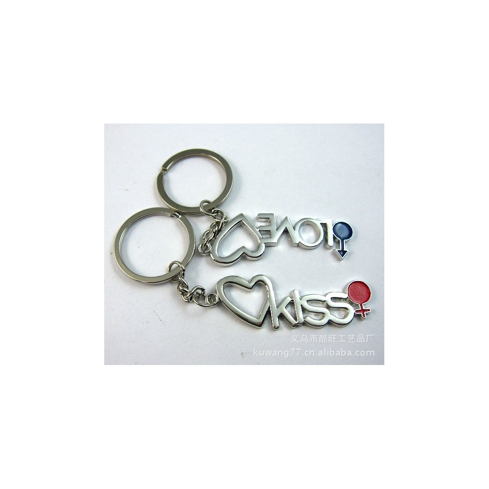 aa379c062a Love Kiss Sex Symbols Silver Metal Couple Keyrings Lovers Puzzle Key Chains  Novelty Gift Present. >