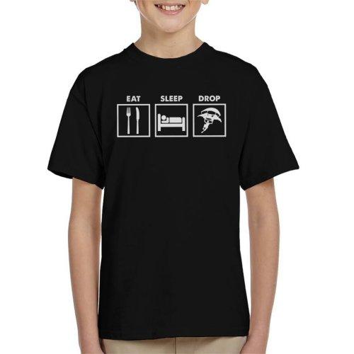 Eat Sleep Drop Fortnite Kid's T-Shirt