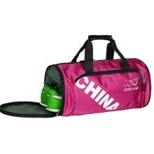 Unisex Classical Sports Bag Gym Duffel Bag Travel Luggage Bag with Shoe Compartment, C