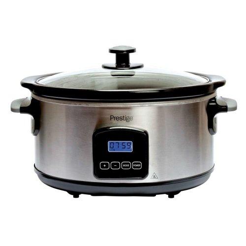 Prestige 46447 Stainless Steel 5.5L Digital Slow Cooker