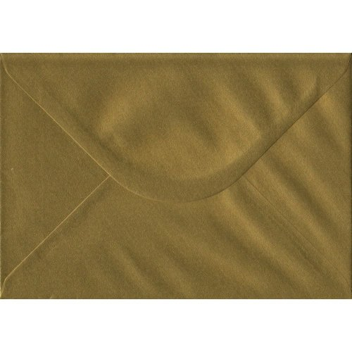 Gold Gummed C5/A5 Coloured Gold Envelopes. 100gsm FSC Sustainable Paper. 162mm x 229mm. Banker Style Envelope.