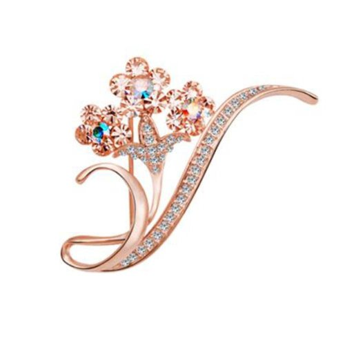 Floral Brooches 2 Pcs Alloy Vintage Jewelry Pin Jewelry Accessories Wedding Gift
