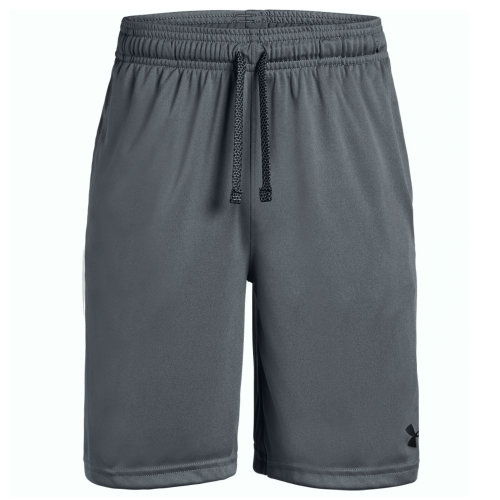 Under Armour Prototype Wordmark Kids Exercise Fitness Sport Short Grey