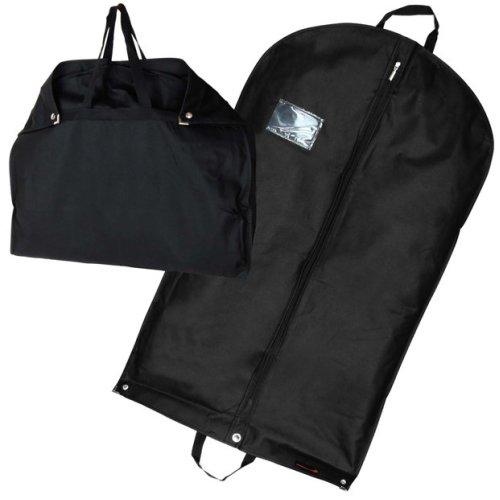 """Hangerworld 3 Black Suit Carriers Travel Clothes Cover Garment Bag 40"""""""