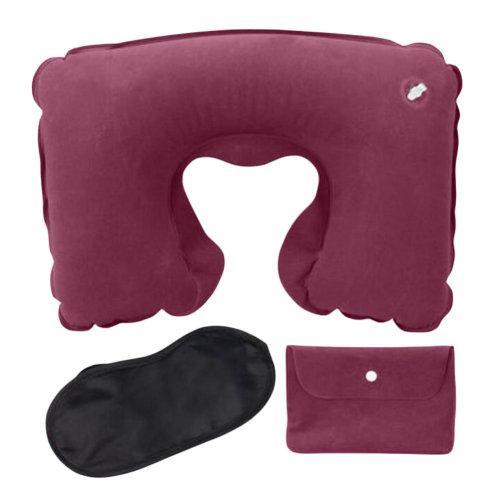 Decent Inflatable Office/Travel Pillow Suit Flocking Neck Pillow