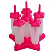 Star Ice Pop Molds Medium Size 14*4 CM Red-Set Of 6
