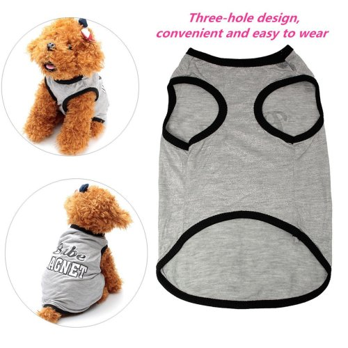 Pet Dog Cat Puppy Vest T-Shirt Accessory Spring Clothes Vest T-Shirt Coat Dress Costume Clothing