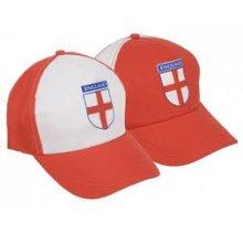 England Flag Adjustable Baseball Cap -  new 24 x st george flag england caps hats free pp