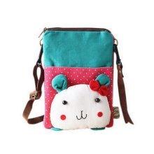Cartoon Canvas Phone Package Korean Version Of Lovely Girl Mini Bag Green Rabbit