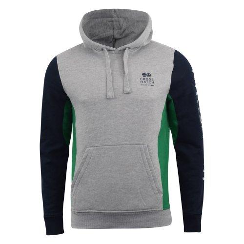 Mens hoodie crosshatch sweatshirt hebron