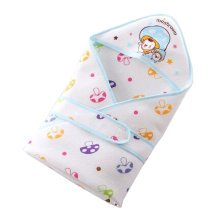 Lovely Baby Receiving Blankets Summer Hooded Swaddleme Mushroom ,Blue