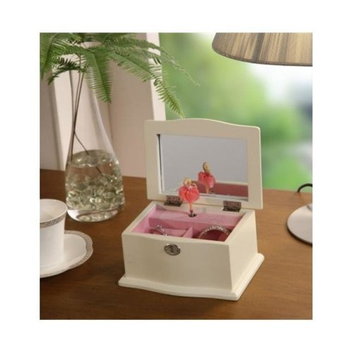 Nathan Direct JB1051BOX-W Shabby Jewelry box with Music