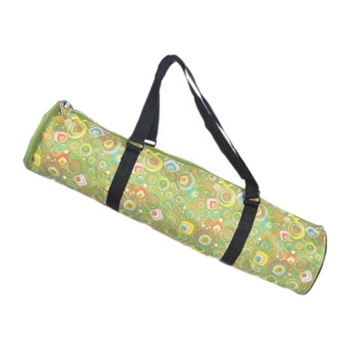 Simple Style Yoga Mat Tote Bag Carrier:  Lightweight Durable Waterproof [Green]