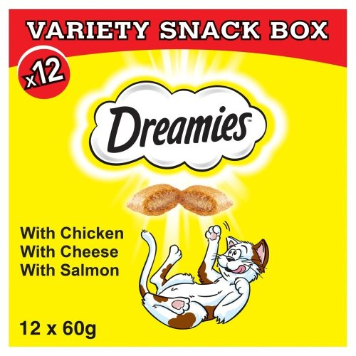 DREAMIES Variety Snack Box With Chicken, Cheese & Salmon 12x60g
