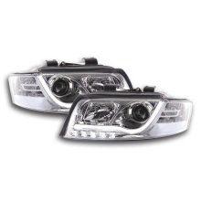 Daylight headlight  Set with DRL Audi A4 type 8E Year 01-04 chrome
