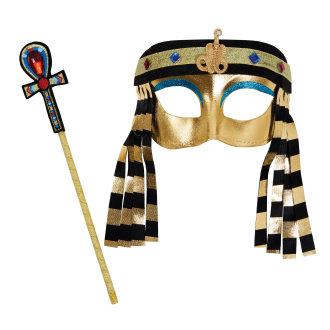 Bristol Novelty Childrens/Girls Egyptian Mask And Sceptre Set