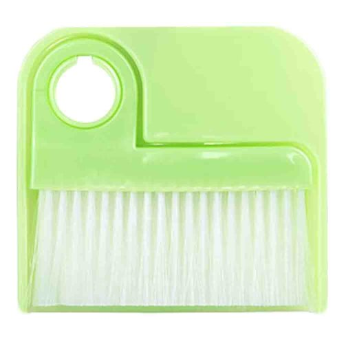 2 PCS Dustpan Broom Suit Car Duster Brush Cleaning Brush(Green)