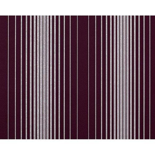 EDEM 973-35 non-woven wallpaper luxury textured stripes violet silver 10.65 sqm