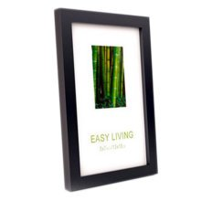 Decorative Wood 4-by-6-Inch Picture Photo Frame, Set Of 2, Black