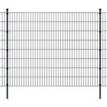 vidaXL 2D Garden Fence Panels & Posts 2008x1630 mm 26 m Grey